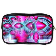 Ruby Red Crystal Palace, Abstract Jewels Travel Toiletry Bag (Two Sides)