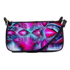 Ruby Red Crystal Palace, Abstract Jewels Evening Bag