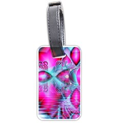 Ruby Red Crystal Palace, Abstract Jewels Luggage Tag (One Side)