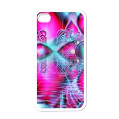 Ruby Red Crystal Palace, Abstract Jewels Apple Iphone 4 Case (white)