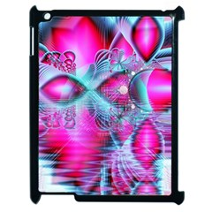 Ruby Red Crystal Palace, Abstract Jewels Apple iPad 2 Case (Black)
