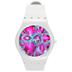 Ruby Red Crystal Palace, Abstract Jewels Plastic Sport Watch (medium)