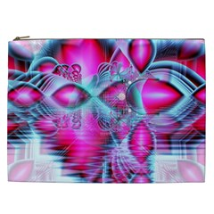 Ruby Red Crystal Palace, Abstract Jewels Cosmetic Bag (xxl)