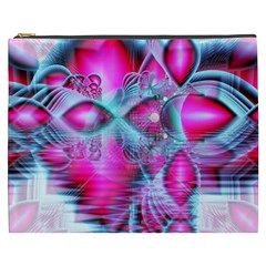 Ruby Red Crystal Palace, Abstract Jewels Cosmetic Bag (XXXL)
