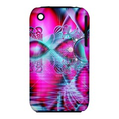 Ruby Red Crystal Palace, Abstract Jewels Apple Iphone 3g/3gs Hardshell Case (pc+silicone)