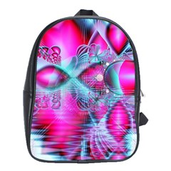 Ruby Red Crystal Palace, Abstract Jewels School Bag (XL)