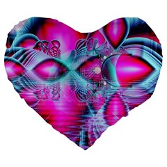 Ruby Red Crystal Palace, Abstract Jewels 19  Premium Heart Shape Cushion