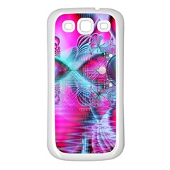 Ruby Red Crystal Palace, Abstract Jewels Samsung Galaxy S3 Back Case (white)