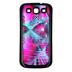 Ruby Red Crystal Palace, Abstract Jewels Samsung Galaxy S3 Back Case (Black)