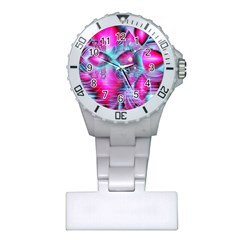 Ruby Red Crystal Palace, Abstract Jewels Nurses Watch
