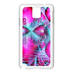 Ruby Red Crystal Palace, Abstract Jewels Samsung Galaxy Note 3 N9005 Case (White)