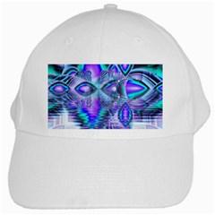 Peacock Crystal Palace Of Dreams, Abstract White Baseball Cap