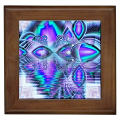Peacock Crystal Palace Of Dreams, Abstract Framed Ceramic Tile