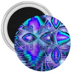 Peacock Crystal Palace Of Dreams, Abstract 3  Button Magnet