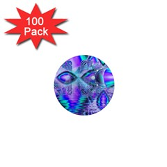 Peacock Crystal Palace Of Dreams, Abstract 1  Mini Button Magnet (100 pack)