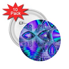 Peacock Crystal Palace Of Dreams, Abstract 2 25  Button (10 Pack)
