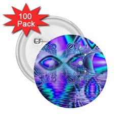 Peacock Crystal Palace Of Dreams, Abstract 2.25  Button (100 pack)