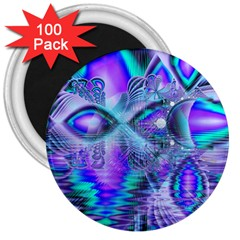 Peacock Crystal Palace Of Dreams, Abstract 3  Button Magnet (100 Pack)