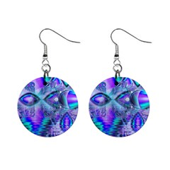 Peacock Crystal Palace Of Dreams, Abstract Mini Button Earrings