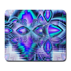Peacock Crystal Palace Of Dreams, Abstract Large Mouse Pad (rectangle)