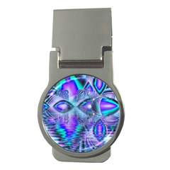 Peacock Crystal Palace Of Dreams, Abstract Money Clip (round)
