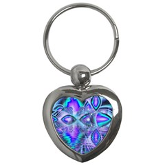 Peacock Crystal Palace Of Dreams, Abstract Key Chain (Heart)