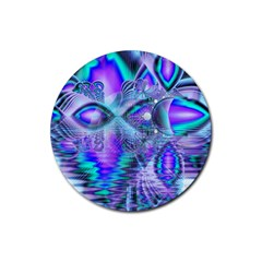 Peacock Crystal Palace Of Dreams, Abstract Drink Coaster (Round)