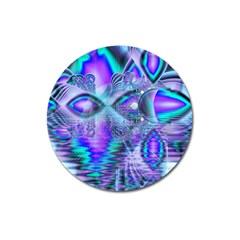 Peacock Crystal Palace Of Dreams, Abstract Magnet 3  (round)