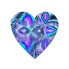 Peacock Crystal Palace Of Dreams, Abstract Magnet (Heart)