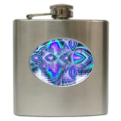 Peacock Crystal Palace Of Dreams, Abstract Hip Flask