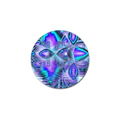 Peacock Crystal Palace Of Dreams, Abstract Golf Ball Marker 4 Pack