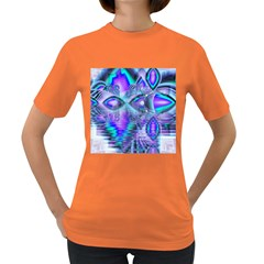 Peacock Crystal Palace Of Dreams, Abstract Women s T-shirt (Colored)