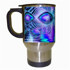 Peacock Crystal Palace Of Dreams, Abstract Travel Mug (White)
