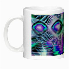 Peacock Crystal Palace Of Dreams, Abstract Glow in the Dark Mug