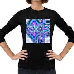 Peacock Crystal Palace Of Dreams, Abstract Women s Long Sleeve T-shirt (Dark Colored)