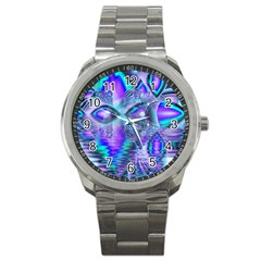 Peacock Crystal Palace Of Dreams, Abstract Sport Metal Watch