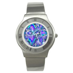Peacock Crystal Palace Of Dreams, Abstract Stainless Steel Watch (Slim)