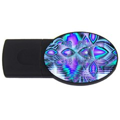 Peacock Crystal Palace Of Dreams, Abstract 4gb Usb Flash Drive (oval)