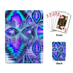 Peacock Crystal Palace Of Dreams, Abstract Playing Cards Single Design