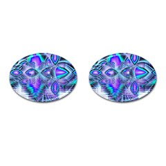 Peacock Crystal Palace Of Dreams, Abstract Cufflinks (Oval)