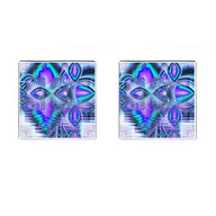 Peacock Crystal Palace Of Dreams, Abstract Cufflinks (Square)