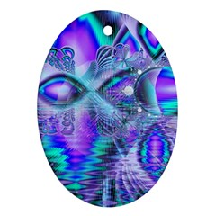 Peacock Crystal Palace Of Dreams, Abstract Oval Ornament (Two Sides)