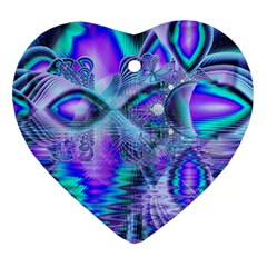 Peacock Crystal Palace Of Dreams, Abstract Heart Ornament (Two Sides)
