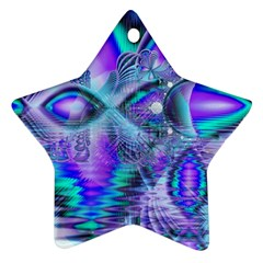 Peacock Crystal Palace Of Dreams, Abstract Star Ornament (Two Sides)