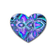 Peacock Crystal Palace Of Dreams, Abstract Drink Coasters (heart)