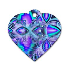Peacock Crystal Palace Of Dreams, Abstract Dog Tag Heart (two Sided)