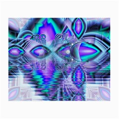 Peacock Crystal Palace Of Dreams, Abstract Glasses Cloth (small, Two Sided)