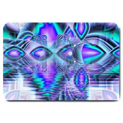 Peacock Crystal Palace Of Dreams, Abstract Large Door Mat