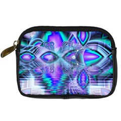 Peacock Crystal Palace Of Dreams, Abstract Digital Camera Leather Case