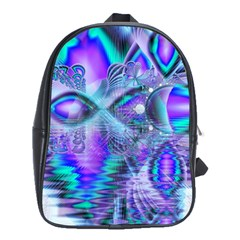 Peacock Crystal Palace Of Dreams, Abstract School Bag (Large)